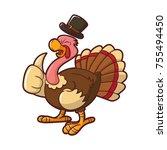 illustration of turkey for... | Shutterstock .eps vector #755494450