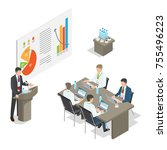 business meeting top managers... | Shutterstock . vector #755496223