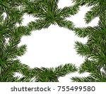 new year christmas. green...   Shutterstock . vector #755499580