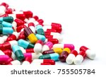 selective focus of antibiotic... | Shutterstock . vector #755505784