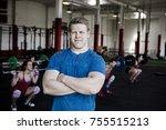 confident man standing arms... | Shutterstock . vector #755515213