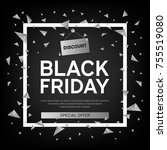 black friday sale poster with... | Shutterstock .eps vector #755519080