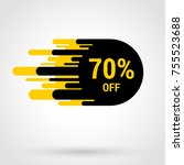 sale sticker with hand drawn...   Shutterstock .eps vector #755523688