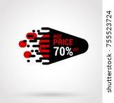 sale sticker with hand drawn...   Shutterstock .eps vector #755523724