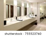 faucets with washbasin in...   Shutterstock . vector #755523760