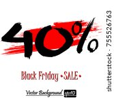 black friday banner. black... | Shutterstock .eps vector #755526763