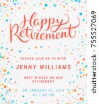 happy retirement. party... | Shutterstock .eps vector #755527069