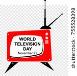 world television day | Shutterstock .eps vector #755528398