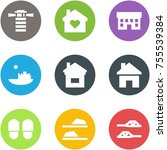 origami corner style icon set   ... | Shutterstock .eps vector #755539384