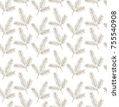 seamless christmas pattern with ... | Shutterstock .eps vector #755540908