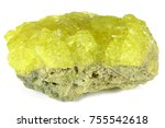 Small photo of native sulfur from Potosi/ Bolivia isolated on white background