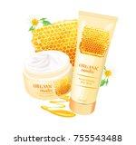 branded tubes of nourishing... | Shutterstock .eps vector #755543488