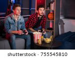 weekend entertainment. involved ... | Shutterstock . vector #755545810