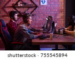 hobby of real men. profile of...   Shutterstock . vector #755545894