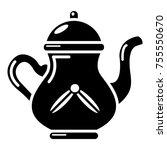 kettle tea icon. simple...