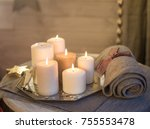 candles in the interior | Shutterstock . vector #755553478