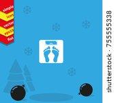 weighting icon. weight watchers ...   Shutterstock .eps vector #755555338