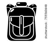 backpack element icon. simple... | Shutterstock .eps vector #755560648