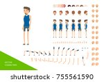 stylish male character design... | Shutterstock .eps vector #755561590