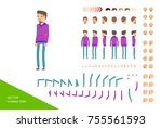 sports male character design... | Shutterstock .eps vector #755561593