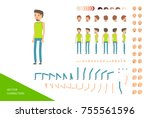 sports male character design... | Shutterstock .eps vector #755561596
