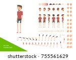 stylish male character design...   Shutterstock .eps vector #755561629