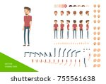 stylish male character design... | Shutterstock .eps vector #755561638