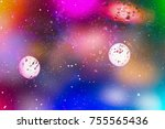 festive christmas background.... | Shutterstock . vector #755565436