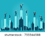 group of business people... | Shutterstock .eps vector #755566588