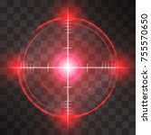 shining red reticle  target... | Shutterstock .eps vector #755570650