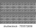 seamless pattern with black... | Shutterstock .eps vector #755572858