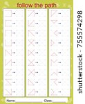 visual perceptual worksheets ...   Shutterstock .eps vector #755574298