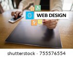 web design and development... | Shutterstock . vector #755576554