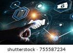 businessman on blurred...   Shutterstock . vector #755587234