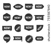 new tag set. sticker for shop...   Shutterstock .eps vector #755587840