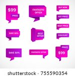 vector stickers  price tag ...   Shutterstock .eps vector #755590354