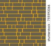 seamless texture of a brick... | Shutterstock . vector #755593366