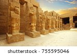 Anscient Temple Of Karnak In...