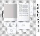 corporate identity template set.... | Shutterstock .eps vector #755597029