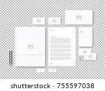 corporate identity template set.... | Shutterstock .eps vector #755597038