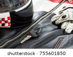 view of motorcycle rider...   Shutterstock . vector #755601850