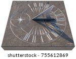 An Old Stone Sundial With...