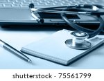 a doctor's workplace | Shutterstock . vector #75561799