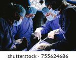 professional surgeons...   Shutterstock . vector #755624686