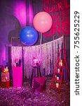 beautiful wedding decor   Shutterstock . vector #755625229
