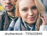 close up portrait of beautiful... | Shutterstock . vector #755632840