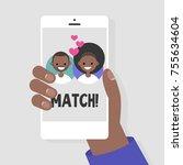 dating service  mobile...   Shutterstock .eps vector #755634604