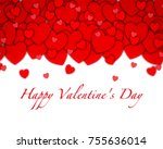 love background red heart... | Shutterstock . vector #755636014