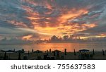 twilight sky in the evening... | Shutterstock . vector #755637583