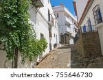 typical white and narrow... | Shutterstock . vector #755646730